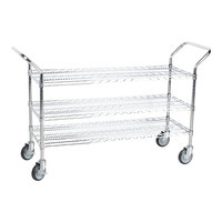 Regency 18 inch x 48 inch Three Shelf Chrome Heavy Duty Utility Cart