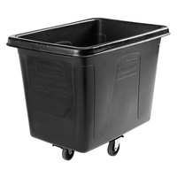 Rubbermaid 1867537 Black 16 Cu. Ft. Bulk Cube Truck (500 lb.)