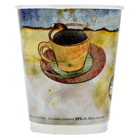 LBP 3010 Monaco 12 oz. Printed Double-Wall Poly Paper Hot Cup - 580 / Case