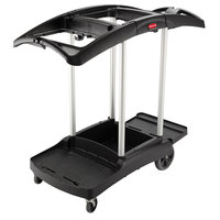 Rubbermaid FG9T9200BLA Triple Capacity Janitor Cart
