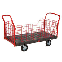 Rubbermaid 4488 Side Panel Platform Truck - 60 inch x 30 inch (FG448800BLA)