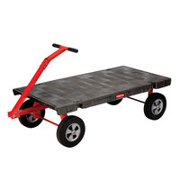 Rubbermaid 4480 5th Wheel Wagon Platform Truck - 60 inch x 30 inch (FG448000BLA)