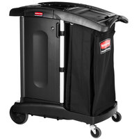 Rubbermaid FG9T7700BLA Executive Turndown Housekeeping Cart