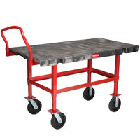 Rubbermaid 4473 Work-Height Platform Truck - 48 inch x 24 inch (FG447300BLA)