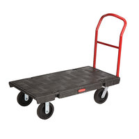 Rubbermaid 4436 Single Handle Heavy Duty Platform Truck - 48 inch x 24 inch (FG443600BLA)