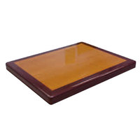 American Tables & Seating ATR2430 Resin Super Gloss 24 inch x 30 inch Rectangle Two Tone Table Top - Cherry and Mahogany