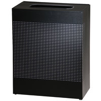 Rubbermaid SR18EPL Silhouettes Textured Black Steel Designer Rectangular Waste Receptacle - 40 Gallon (FGSR18EPLTBK)