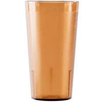 Cambro 1600P153 Colorware 16.4 oz. Amber Plastic Tumbler - 72/Case