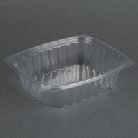 Dart Solo C24DER ClearPac 24 oz. Clear Rectangular Plastic Container - 63/Pack