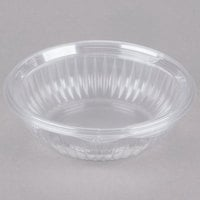 Dart Solo C24HBF PresentaBowls 24 oz. Clear Hinged Plastic Bowl with Flat Lid - 75/Pack