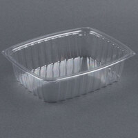 Dart Solo C48DER ClearPac 1.5 Qt. ClearPac Clear Rectangular Plastic Container - 63/Pack