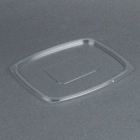 Dart Solo C64DLR ClearPack Clear Snap-On Flat Lid for 30, 48, and 64 oz. Plastic Containers - 63/Pack