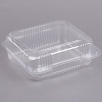 Dart C51UT1 StayLock 8 1/4 inch x 7 3/4 inch x 3 inch Clear Hinged Plastic Medium Container - 125/Pack