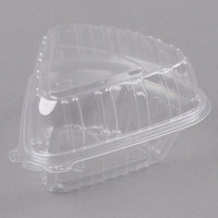 Dart Showtime C54HT1 6 inch x 6 inch x 3 inch Clear Hinged Lid Pie Wedge Container - 125/Pack