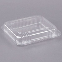 Dart Solo C51UTS StayLock 8 1/4 inch x 7 3/4 inch x 2 inch Clear Hinged Plastic Medium Shallow Container - 125/Pack