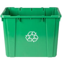 Continental 5914-2 Green Curbside 14 Gallon Recycling Bin
