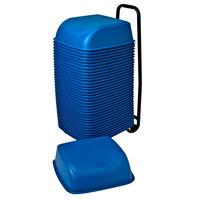 Koala Kare KB424-04 Blue Plastic Cinema Seats with Cart - 36/Case