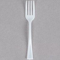 Fineline Tiny Temptations 6500-WH 3 7/8 inch Tiny Tines White Plastic Tasting Fork 960 / Case