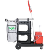 Unger RRSPS 16 Qt. Better Cleaning Specialist Janitorial Cart and Starter Cleaning System