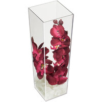 Cal-Mil 879-16 5 inch x 16 inch Square Clear Acrylic Accent Display Vase