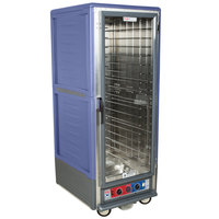 Metro C539-CLFC-L-BU C5 3 Series Low Wattage Lip Load Heated Holding and Proofing Cabinet with Clear Single Door - Blue