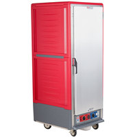 Metro C539-CLFS-4 C5 3 Series Low Wattage Heated Holding and Proofing Cabinet with Solid Single Door - Red