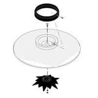 Bunn 20508.0001 Stainless Steel Funnel Cover Assembly with Cover, Spray Head Assembly, and Funnel Cover Ring for Bunn Coffee Brewers