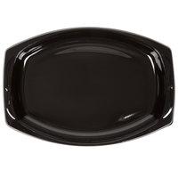 Genpak BLK11 Silhouette 7 inch x 10 1/2 inch Black Premium Plastic Platter   - 500/Case