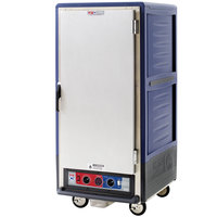 Metro C537-CLFS-4 C5 3 Series Insulated Low Wattage 3/4 Size Heated Holding and Proofing Cabinet with Fixed Wire Slides and Solid Door - Blue