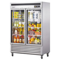 Turbo Air MSR-49G-2 54 inch Maximum Series Two Glass Door Reach In Refrigerator - 49 Cu. Ft.