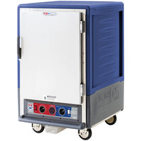 Metro C535-CLFS-L C5 3 Series Insulated Low Wattage Half Size Heated Holding and Proofing Cabinet with Lip Load Aluminum Slides and Solid Door - Blue