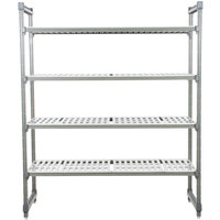 Cambro Camshelving Elements ESU244872V4580 Vented 4-Shelf Stationary Starter Unit - 24 inch x 48 inch x 72 inch