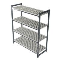 Cambro Camshelving Elements ESU245464V4580 Vented 4-Shelf Stationary Starter Unit - 24 inch x 54 inch x 64 inch