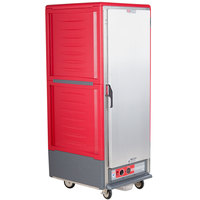 Metro C539-HLFS-4 C5 3 Series Insulated Low Wattage Full Size Hot Holding Cabinet with Fixed Wire Slides and Solid Door - Red