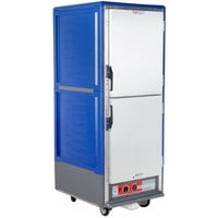 Metro C539-HLDS-U C5 3 Series Insulated Low Wattage Full Size Hot Holding Cabinet with Universal Wire Slides and Solid Dutch Doors - Blue