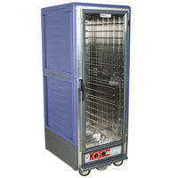 Metro C539-HLFC-L C5 3 Series Insulated Low Wattage Full Size Hot Holding Cabinet with Lip Load Aluminum Slides and Clear Door - Blue