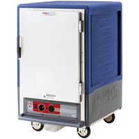 Metro C535-HLFS-4-BU C5 3 Series Insulated Low Wattage Half Size Heated Holding Cabinet with Fixed Wire Slides and Solid Door - Blue