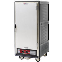 Metro C537-HLFS-U-GY C5 3 Series Insulated Low Wattage 3/4 Size Heated Holding Cabinet with Universal Wire Slides and Solid Door - Gray
