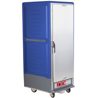 Metro C539-HLFS-L C5 3 Series Insulated Low Wattage Full Size Hot Holding Cabinet with Lip Load Aluminum Slides and Solid Door - Blue