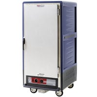Metro C537-HLFS-U-BU C5 3 Series Insulated Low Wattage 3/4 Size Heated Holding Cabinet with Universal Wire Slides and Solid Door - Blue
