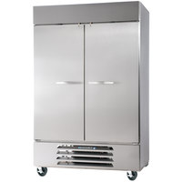 Beverage Air HBR49-1-S 52 inch Horizon Series Two Section Solid Door Reach in Refrigerator - 49 Cu. Ft.
