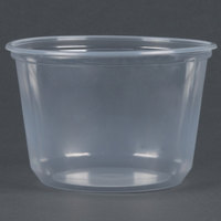 Choice 16 oz. Microwavable Translucent Round Deli Container - 500 / Case