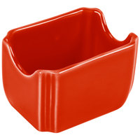 Homer Laughlin 479338 Fiesta Poppy 3 1/2 inch x 2 3/8 inch Sugar Caddy - 12 / Case