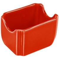 Homer Laughlin 479338 Fiesta Poppy 3 1/2 inch x 2 3/8 inch Sugar Caddy   - 12/Case