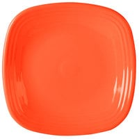 Homer Laughlin 919338 Fiesta Poppy 10 3/4 inch Square Dinner Plate - 12 / Case