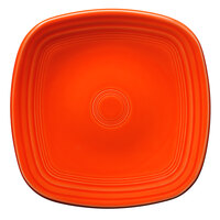 Homer Laughlin 920338 Fiesta Poppy 9 1/4 inch Square Luncheon Plate - 12/Case