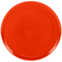 Homer Laughlin 575338 Fiesta Poppy 12 inch Baking / Pizza Tray - 4 / Case
