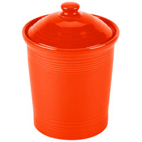 Homer Laughlin 573338 Fiesta Poppy Large 3 qt. Canister with Cover - 2 / Case