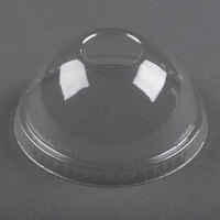 Dart Solo DLR640 Clear Plastic Dome Lid with 1 inch Hole - 1000 / Case