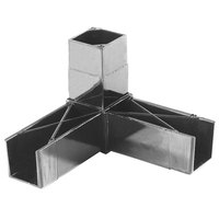 Carlisle 900231 Gray 3 Prong Replacement Sneeze Guard Assembly Block - 2/Pack